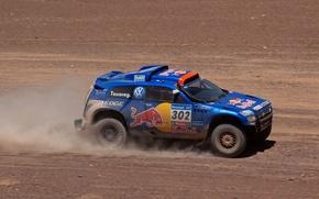 Picture Blue, Volkswagen, Touareg, Dakar, Dakar, Rally, Touareg