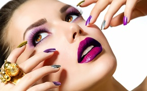 Picture look, face, style, makeup, lipstick, lips