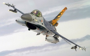 Picture F-16, Fighting Falcon, UNITED STATES AIR FORCE, General Dynamics, multi-role fighter