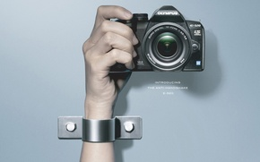 Picture photo, hand, the camera
