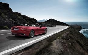Picture Maserati, The sky, Sea, Open, Speed, Shore, Grancabrio