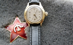 Picture background, holiday, widescreen, Wallpaper, star, watch, wallpaper, red, star, the hammer and sickle, red, May …