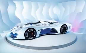 Picture white, gran turismo, alpine vision GT6