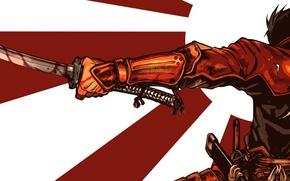 Picture wallpaper, battlefield, sword, blood, game, armor, war, anime, katana, man, ken, flag, samurai, hero, asian, …