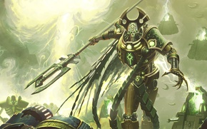 Picture energy, the explosion, weapons, armor, Warhammer, offensive, Necron Overlord