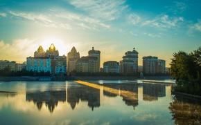 Picture the city, Kazakhstan, promenade, Astana, Astana, Kazakhstan, Yesil