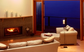Picture design, style, room, sofa, interior, chair, fireplace, apartment