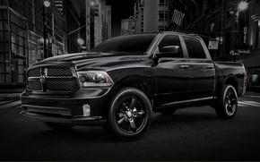 Picture black, Dodge, Dodge, pickup, the front, 1500, Ram, REM, Black Express