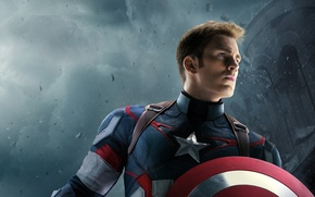 Picture Action, Fantasy, Clouds, Sky, Hero, the, Warrior, Wallpaper, Captain America, Super, Year, EXCLUSIVE, MARVEL, Weapon, ...