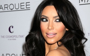 Picture look, model, actress, brunette, Kim Kardashian