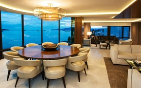 Picture design, style, Villa, interior, living space, Beach House