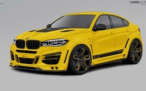 Picture yellow, BMW, BMW, 2010, F16, Lumma Design, X6 M