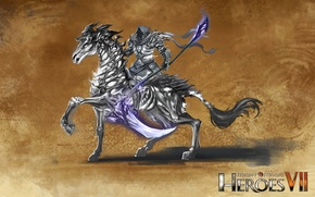 Picture horse, necropolis, Heroes of Might and Magic 7, dark rycote