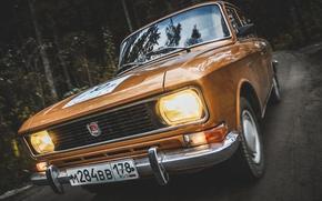 Picture machine, USSR, car, classic, Muscovite, AZLK, Mosa, 2140