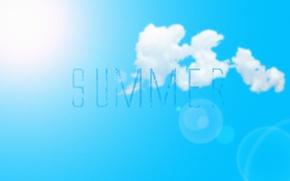 Picture summer, typography, bratu