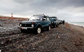 Picture background, Wallpaper, shore, Lada, off road, Niva, Niva, Land rover