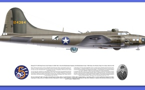 Wallpaper WWII, Boeing YB-40 Flying Fortress, American