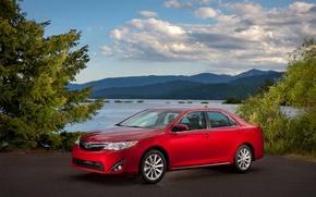 Picture machine, auto, beautiful, sedan, red, toyota, Toyota, camry, Camry