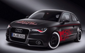 Picture car, audi, red, black, tuning, goodlife