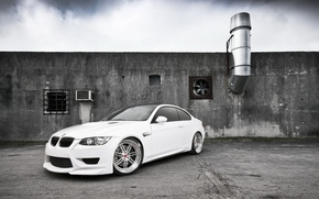 Picture tuning, white, BMW M3