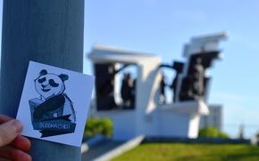 Picture lawn, Panda, monument, buddha chieff