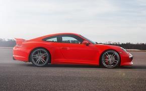 Picture coupe, 911, Porsche, 2012, Porsche, red, Carrera, TechArt, Carrera S