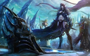 Picture WoW, World of warcraft, lady, Sylvanas Windrunner, wrath of the lich king, Saurfang, Sylvanas Windrunner, …
