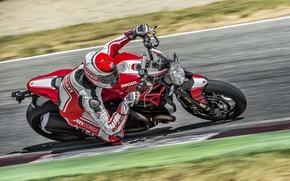 Picture red, Ducati, Monster, moto, road, bike, Legend, speed, classic, ride, 2016, 1200R