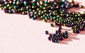 Picture macro, beads, macro, beads, needlework, handmade