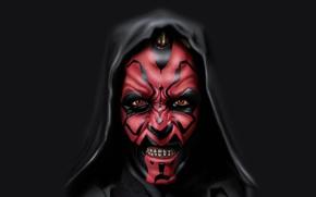 Picture star wars, star wars, Darth Maul, Sith, hoodie, Darth Maul, dark gray, A Sith Lord