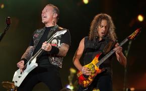 Picture music, scene, music, concert, microphone, Rock, electric guitar, Rock, Metallica, thrash metal, thrash metal, hard …