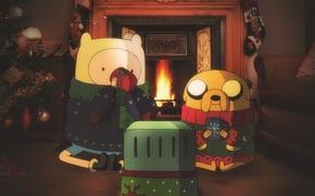 Picture new year, jake, adventure time, Jake, adventure time, Finn, finn, BMO, bimo
