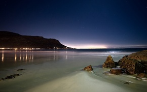 Picture lights, stones, the evening, Shore