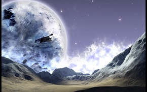 Wallpaper the moon, the sky, planet