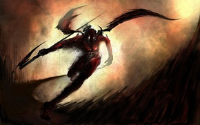 Picture halo, axe, running, wings, being