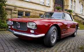 Picture Maserati, the building, coupe, pavers, steps, auto, coupe, Maserati, 5000