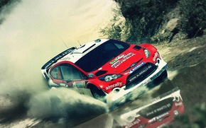 Picture water, squirt, ford, rally, rally, wrc, fiesta, Eugene, Novikov, almrally