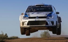 Picture Volkswagen, Speed, WRC, Rally, Rally, The front, Polo, Sebastien Ogier, Julien Ingrassia