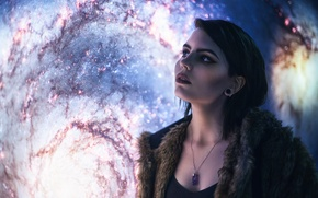 Picture girl, the universe, Celestial Observer