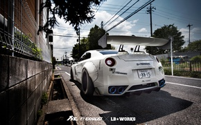 Wallpaper Liberty Walk, R35, Fi Exhaust, tuning, Nissan, street, GTR