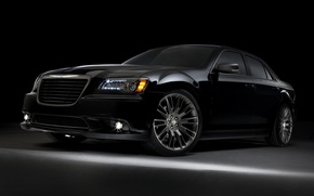 Picture Chrysler, Machine, Chrysler, Machine, Black, Car, Car, Cars, Black, 300, Cars, Limited Edition, Front view, …