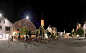 Picture road, night, lights, street, home, Germany, Bayern, Kelheim