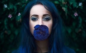 Picture flower, look, portrait, makeup