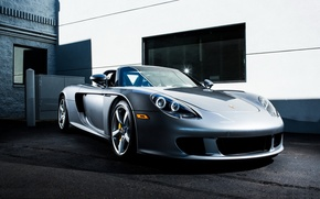 Wallpaper Karera, Porsche, the building, Porsche Carrera GT, sports car