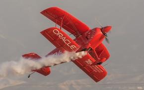 Picture flight, retro, the plane, classic, aerobatics
