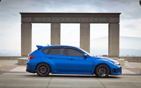 Picture Subaru, Impreza, profile, blue, Subaru, Impreza