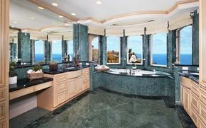 Picture design, Villa, mirror, bath, luxury, Design, Bathroom, Interior