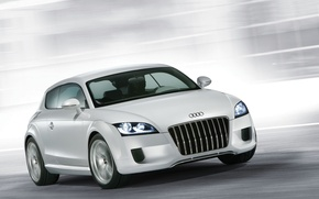 Picture machine, Audi, grey