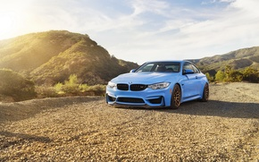 Picture car, blue, bmw m4