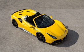 Wallpaper Rosso, car, Novitec, Ferrari, 488, Spider, the hood, the front, tuning, novitek, yellow